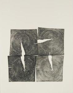 Brian Nash Gill - Woodcut, Four Square, 2011