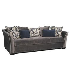 @Overstock - Kate Sofa - Covered in a super soft and long wearing polyester fabric, the Kate sofa features expert tailoring and a unique flair arm design with nailhead accenting. The accent pillow contrast and complement the classic and modern design.  http://www.overstock.com/Home-Garden/Kate-Sofa/9116679/product.html?CID=214117 $878.39