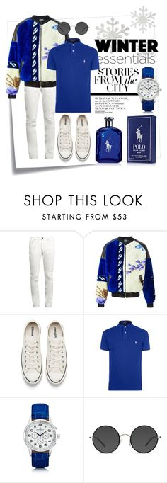 """""""Blue: Winter Essentials"""" by tristan-fraser ❤ liked on Polyvore featuring Post-It, Yves Saint Laurent, Andrea Crews, Converse, Polo Ralph Lauren, Kennett, Ace, Ralph Lauren, men's fashion and menswear"""