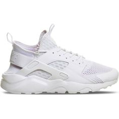 NIKE Air huarache run ultra mesh trainers ($160) ❤ liked on Polyvore featuring shoes, platinum breathe, lace up shoes, mesh shoes, laced shoes, laced up shoes and almond toe shoes