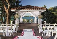 The ocean pavilion, offering beautiful views of Great Bay and neighboring islands, provides the perfect venue for a memorable wedding.