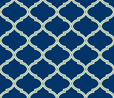 Lily Trellis in Preppy Apple Green and Navy  fabric by sparrowsong on Spoonflower - custom fabric also wallpaper