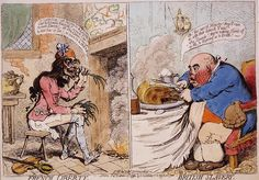 James Gillray, sometimes spelled Gilray (13 August 1757 – 1 June 1815), was a British caricaturist and printmaker famous for his etched political and social satires, mainly published between 1792 and 1810.