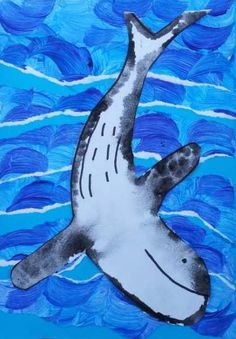 Dream Painters (Aug Humpback Whale Collage: Maddy W High School Art, Middle School Art, Ocean Art, Ocean Life, Art Activities For Kids, Art For Kids, Purple Couch, First Grade Art, Ap Art