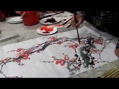 (83) Chinese Plum Blossom Paintings - Artist Gu Chengxi - YouTube