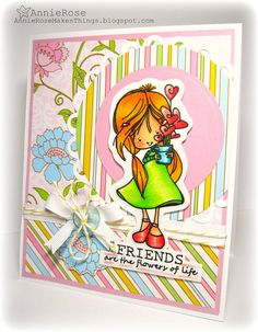 Annie Rose Makes Things: Friends are the Flowers of Life - Tiddly Inks Blog Hop