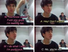 5SOS in a nutshell>> Hahaha yes>>> No you're not Mikey you're too cute