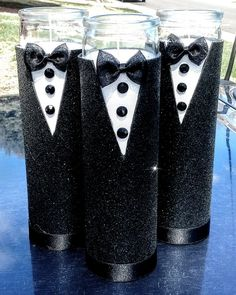 Tux candle centerpieces ideas for birthday 50th Birthday Party Ideas For Men, Elegant Birthday Party, 60th Birthday Party, Man Birthday, Birthday Centerpieces, Candle Centerpieces, Birthday Decorations, Black Tie Party, Man Party