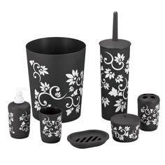 7Pcs Bathroom Accessory Set Bin Soap Dish Dispenser Tumbler Toothbrush Holder  #BlueDonuts