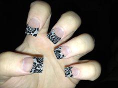 """Lace"" acrylic nails !!   Pls follow me on YouTube "" GlitterNails216 """