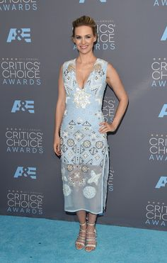 January Jones aux Critics' Choice Awards 2016