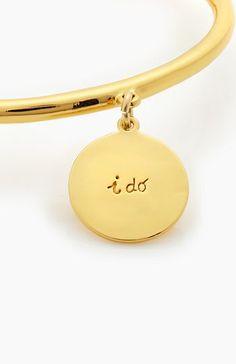 ''i do'' charm bangle #katespade