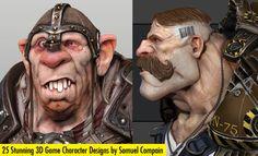 25 Stunning 3D Game Character Designs by Samuel Compain. Follow us www.pinterest.com/webneel