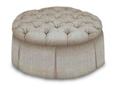 Shop for Kravet Selection of Top and Trim Treatments; Selection of Hardwood Legs or Skirt; Selection of Stain finishes; Other Sizes Available, Holyoke Round Ottoman, and other Living Room Ottomans at Kravet in New York, NY.
