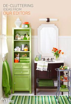 Declutter your home in less time with our editors' favorite hacks here: http://www.bhg.com/decorating/storage/organization-basics/declutter/?socsrc=bhgpin081214declutterthebathroom