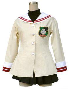 Clannad High School Freshman Uniform Cosplay Costume