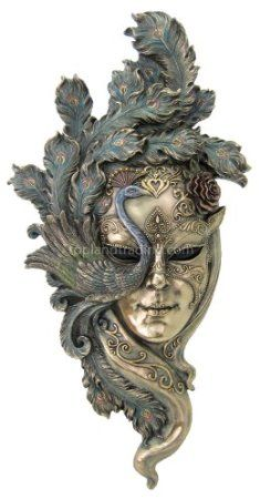 Amazon.com: Large - Lady Peacock Venetian Style Carnival Mask Wall Decor: Home & Kitchen