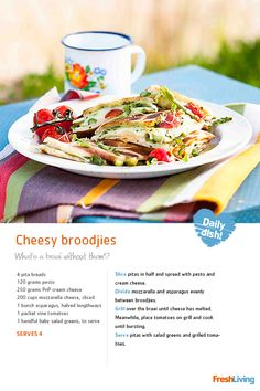 Summer should be celebrated outdoors with friends and family in the sunlight and fresh air. Pack a #picnic basket and head for greener pastures with our yummy cheesy #broodjies.  #recipe #dailydish #picknpay