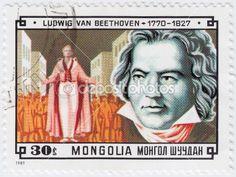 Ludwig van Beethoven — Mongolian stamp