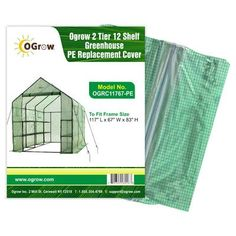 Ogrow 2 Tier 12 Shelf Greenhouse PE Replacement Cover -- You can find out more details at the link of the image.