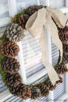 Wreaths are synonymous with the holidays. Why not pick up the materials for this DIY from your own backyard? The Pine Cone Christmas Wreath is so simple!