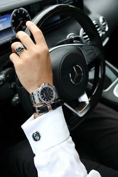 """A Luxury Lifestyle in New York with """"Elite & Luck"""" London Blue Topaz + Black Onyx Ring, Charming Collection. Suit Fashion, Mens Fashion, Fashion Tips, Luxury Lifestyle Fashion, Stylish Boys, Luxury Watches For Men, London Blue Topaz, Gentleman Style, Diesel"""