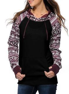 Shop Casual Christmas Long Sleeve Pullover Hoodie at victoriaswing, personal womens clothing online store! high quality, cheap and big discount, latest fashional style! Hoodie Sweatshirts, Pullover Hoodie, Sweater Hoodie, Jumper, Fleece Hoodie, Sweat Noir, Pull Sweat, Diy Kleidung, Stylish Girl