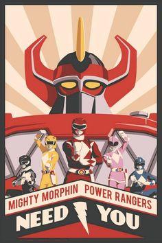 Mighty Morphin Power Rangers Need You Paper Giclee Print Acme Archives Power Rangers Artwork Go Go Power Rangers, Mighty Morphin Power Rangers, Power Rangers Poster, Kamen Rider, Power Ranger Party, Power Ranger Birthday, Steve Thomas, Pawer Rangers, Superman