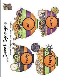 SWEET SYNONYMS (A HALLOWEEN ACTIVITY THAT MEETS COMMON CORE 2.L.5.B STANDARD) - TeachersPayTeachers.com