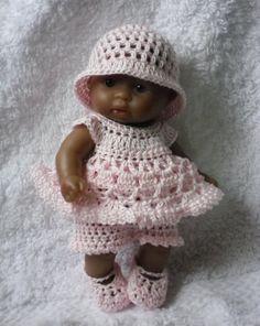 Crochet+pattern+for+Berenguer+5+inch+baby+doll+PDF+by+petitedolls,+£2.50