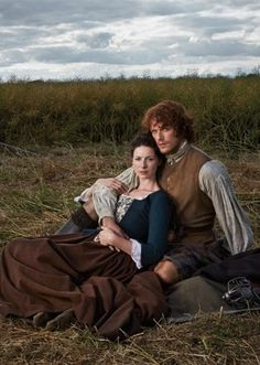Caitriona Balfe as Claire Randall and Sam Heughan as Jamie Fraser for TVGuide Magazine