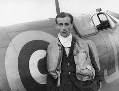 Battle of Britain pilot NEVILLE  DUKE , who later broke the World Air Speed record, pictured with his Spitfire at RAF Biggin Hill in 1941 by Cecil Beaton. (rw)