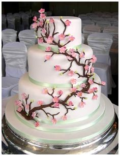 12 Best Japanese Wedding Cakes Images Cherry Blossom Cake Fondant