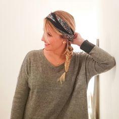Comment porter un foulard danses cheveux? Article sur le blog.