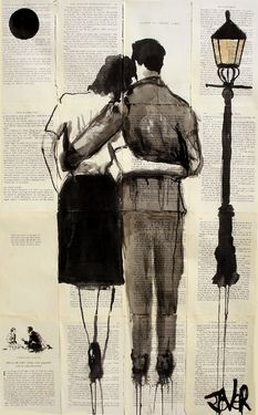 """Loui Jover's artwork involves drawing in ink over adhered-together old book pages. The very striking result: the pages give the drawings, as Jover puts it, """"a kind of 'meaningR… Tinta China, Oeuvre D'art, Love Art, Painting & Drawing, Silhouettes, Amazing Art, Awesome, Art Drawings, Saatchi Art"""