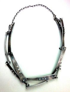 Elaine Rader riveted necklace