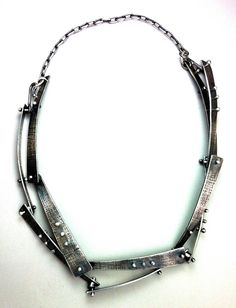 Elaine Rader riveted necklace