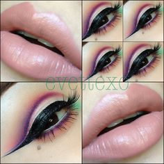 Cut crease with nude lipstick @ evettexo