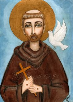 My Heart Art: Saint Francis and the Dove of Peace
