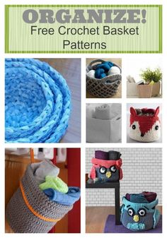 17 Unique Free Crochet Basket Patterns and 30 ways to use them