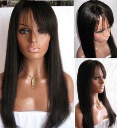 100% Indian Human Hair Natural Straight Baby Hair Full Lace Wigs Lace Front Wigs | Health & Beauty, Hair Care & Styling, Hair Extensions & Wigs | eBay!