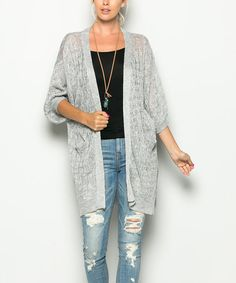 This Gray Dolman Open Cardigan is perfect! #zulilyfinds
