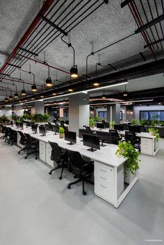 Open Office Design, Corporate Office Design, Office Interior Design, Office Interiors, Office Ceiling Design, Bureau Design, Workspace Design, Office Workspace, Cool Office Space