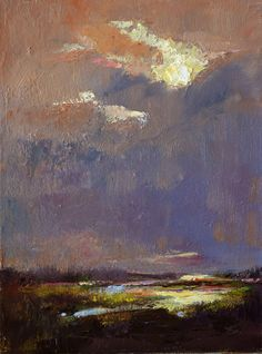 """Marsh Storm,"" original oil painting, 20x16, Available at Rich Timmons Studio & Gallery, 3795gallery.com"