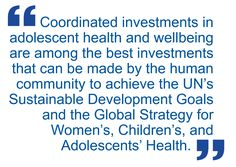 - Peter Sheehan et al.Building the foundations for sustainable development: a case for global investment in the capabilities of adolescents
