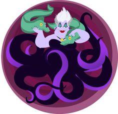 Disney Ball III: Ursula by lozartist.deviantart.com on @deviantART