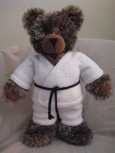 Name: 'Knitting : Karate Outfit Kids Knitting Patterns, Free Knitting, Crochet Patterns, Crochet Crafts, Knit Crochet, Teddy Bear Clothes, Bear Toy, Painting For Kids, Stuffed Toys Patterns