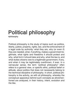 What is a statement of aesthetic philosophy?