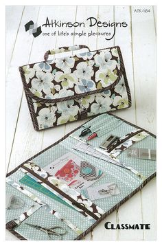 sewing organizers | Classmate- Printed Sewing Pattern- Travel Organizer by Atkinson ...