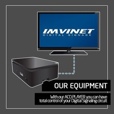 With our ACO PLAYER you can have total control of your Digital Signaling circuit it is a robust solid state equipment and easy installation.  We know how to make a circuit successful if you want to know more contact us via e-mail to info@imvinet.com or visit our website www.imvinet.com #digitalboards  #digital  #digitalsignage  #menuboards  #informations  #tecnology  #ds  #dooh  #comunication